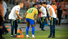 Neymar injured as Brazil draw 1-1 with...