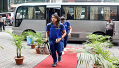 India A women reach Chittagong