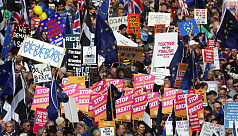 Angry over Brexit, thousands gather...