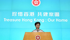 Hong Kong leader abandons policy speech...