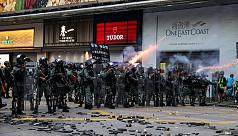 Petrol bombs, tear gas scar Hong Kong...