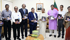 PM unveils commemorative book on Sheikh...
