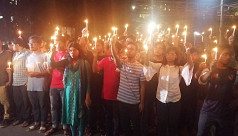 Buet students hold candlelight procession...