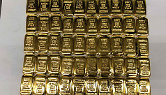 50 gold bars seized at Dhaka airport
