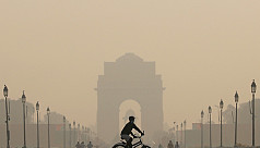 Pollution levels in India's capital...