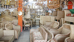 Cane furniture business on the