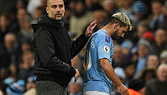 Guardiola: Aguero out for a few weeks