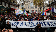 Thousands join French march against...