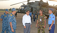 Govt, armed forces officials visit cyclone-affected...