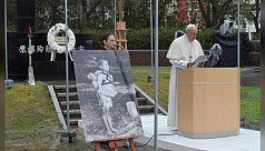 Pope urges abolition of nuclear weapons...
