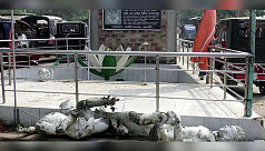 Sculptures of freedom fighters,  Bangabandhu vandalized in Jhalakathi