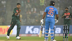 Shafiul removes Rohit early
