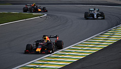 Verstappen wins crazy race as both Ferraris crash out