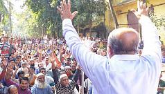 Jute mill workers demand due wages in...