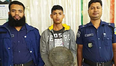 Man arrested in Netrokona with touchstone...