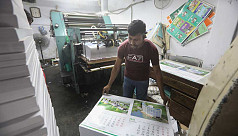 Presses aflutter printing new year...