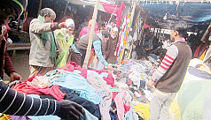 Warm clothes sale on rise as winter settles in Nilphamari