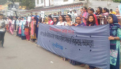 Rights activists protest violence against women