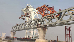 17th span of Padma Bridge installed