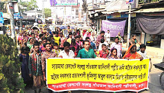Protesting Santals in Rangpur seek return...
