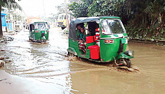 Thousands suffer as roads clogged with water in Sylhet