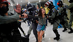 Hong Kong shopping mall clashes end...