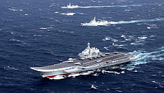 Chinese-made carrier sails group Taiwan Strait