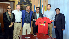 Manchester United delegates in Dhaka