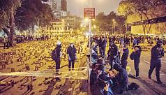 Hong Kong students hunker down as government...