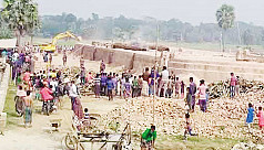 47 illegal brick kilns operates on the Madhumati River bank in Gopalganj