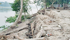 Covid-19: Construction of flood control embankment on halt, erosion threatens Shariatpur