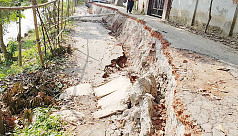 Road collapse puts lives at risk in Gopalganj