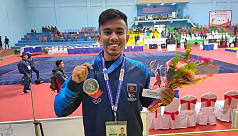 Faruk wins silver in wushu