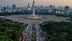 Conservative Muslims rally in Indonesia...