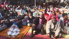 State-run jute mill workers' fast-unto-death...