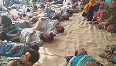 Jute mill workers continue hunger strike,...