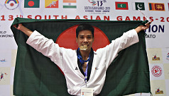 SAG2019: Dipu Chakma wins first gold for Bangladesh in taekwondo