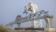 18th span of Padma Bridge installed