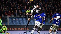 Towering Ronaldo header sends Juventus...