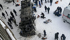 19 killed as bus plunges onto river in Russia