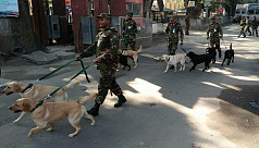Indian Army gifts Bangladesh Army 10 trained dogs