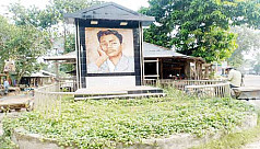 Sukanta Bhattacharya's mural lies neglected...