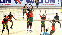 Army in Victory Day Volleyball semis