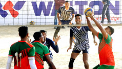 Navy meets PDB in Victory Day Volleyball...