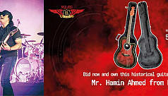 Hamin Ahmed's guitar up for