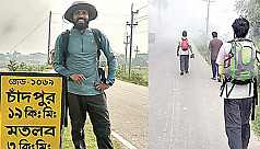 Man marches thru'64 districts raising awareness about plastic waste