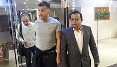 Julio Cesar lands in Dhaka