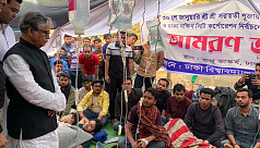 Dhaka city polls: 10 DU students fall sick during hunger strike