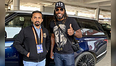 Chris Gayle arrives in Dhaka