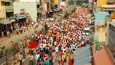 Hardline Hindus protest huge Indian...